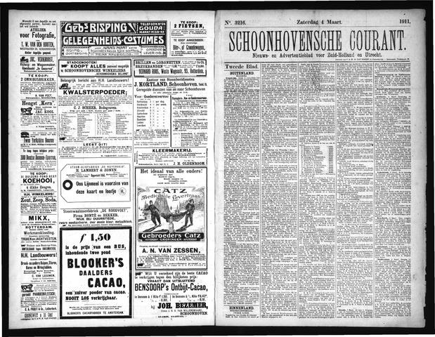 Schoonhovensche Courant 1911-03-04