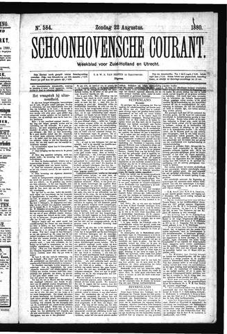 Schoonhovensche Courant 1880-08-22