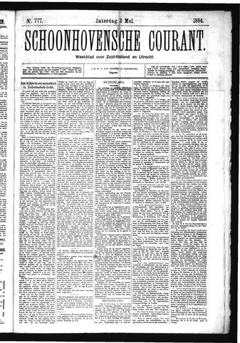 Schoonhovensche Courant 1884-05-03
