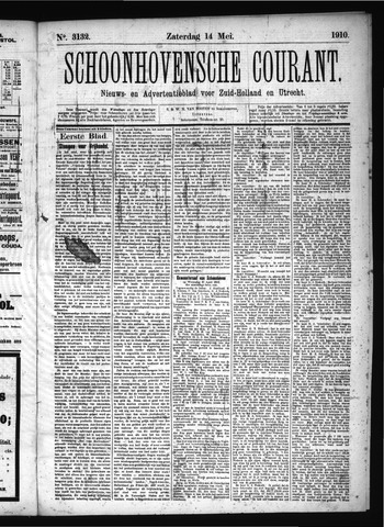 Schoonhovensche Courant 1910-05-14
