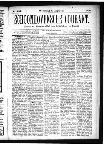 Schoonhovensche Courant 1910-08-10