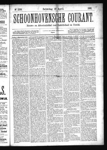 Schoonhovensche Courant 1891-04-18