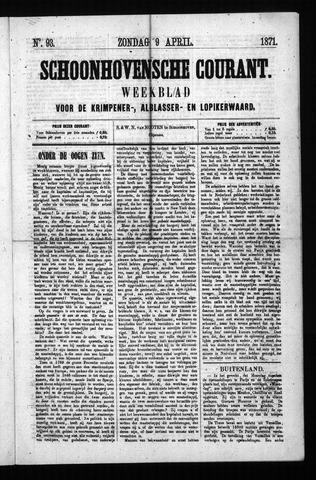 Schoonhovensche Courant 1871-04-09