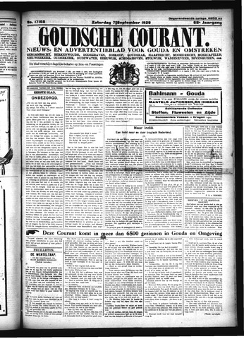 Goudsche Courant 1929-09-07