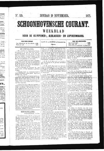 Schoonhovensche Courant 1871-11-19