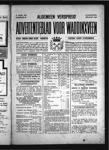 Advertentieblad Waddinxveen 1916-04-08