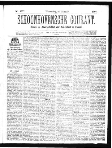 Schoonhovensche Courant 1905-01-11