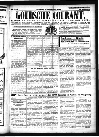 Goudsche Courant 1929-09-14