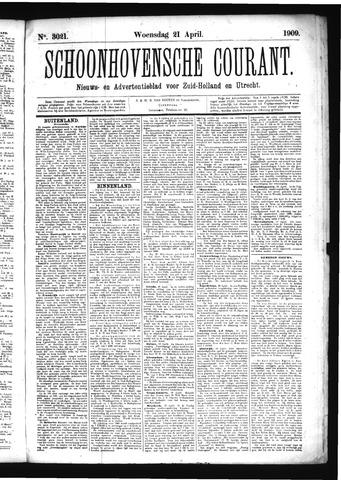 Schoonhovensche Courant 1909-04-21
