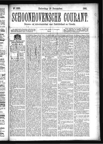 Schoonhovensche Courant 1891-12-19