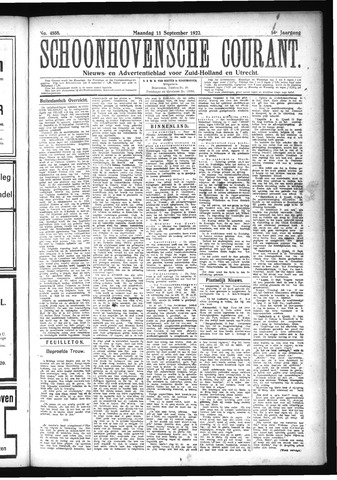 Schoonhovensche Courant 1922-09-11