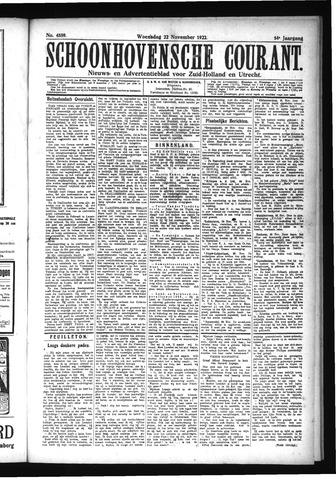 Schoonhovensche Courant 1922-11-22