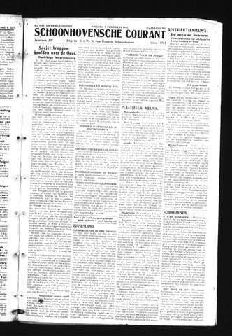 Schoonhovensche Courant 1945-02-09