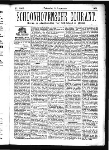 Schoonhovensche Courant 1908-08-08