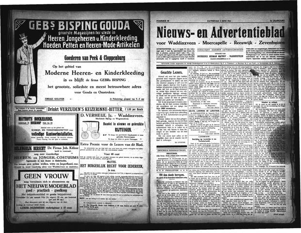 Advertentieblad Waddinxveen 1916-06-03
