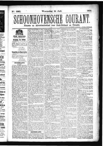 Schoonhovensche Courant 1912-07-24