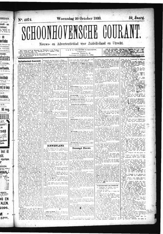 Schoonhovensche Courant 1920-10-20
