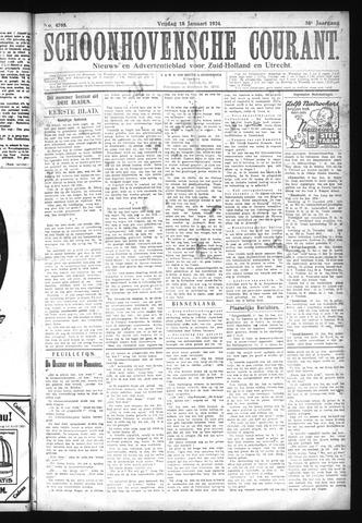 Schoonhovensche Courant 1924-01-18