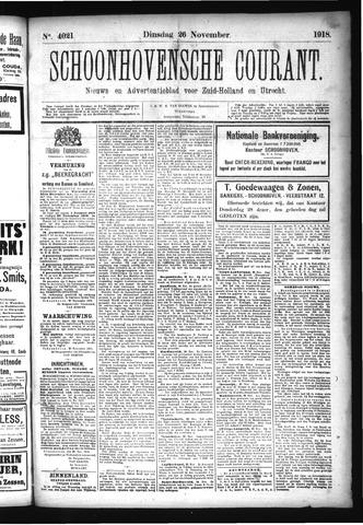 Schoonhovensche Courant 1918-11-26
