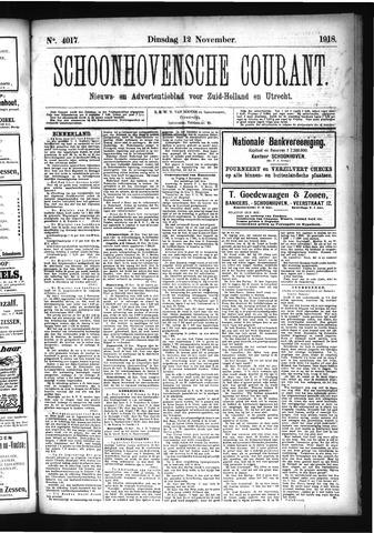 Schoonhovensche Courant 1918-11-12
