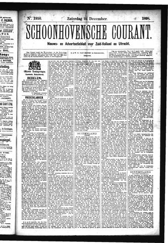 Schoonhovensche Courant 1898-12-24