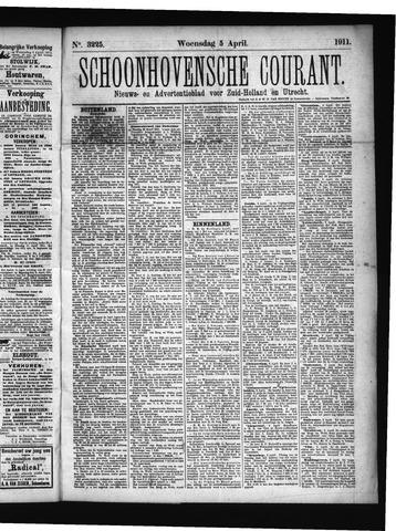 Schoonhovensche Courant 1911-04-05