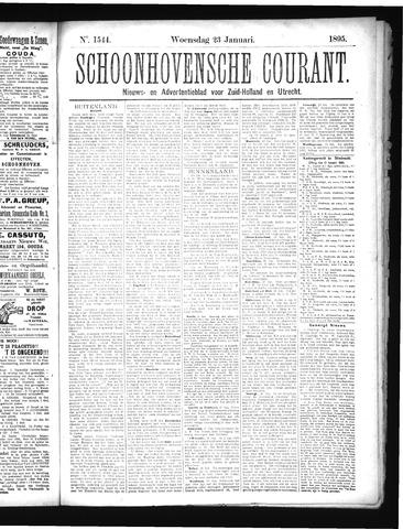 Schoonhovensche Courant 1895-01-23