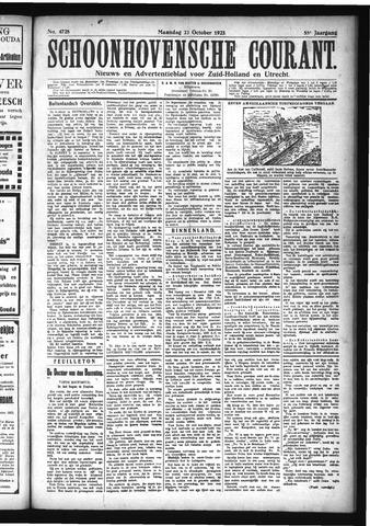 Schoonhovensche Courant 1923-10-22