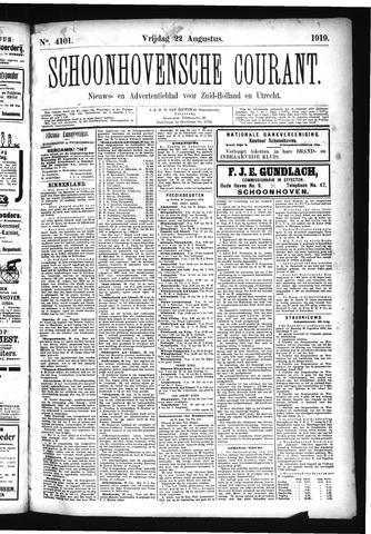 Schoonhovensche Courant 1919-08-22