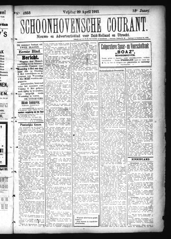 Schoonhovensche Courant 1921-04-29