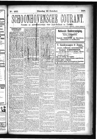 Schoonhovensche Courant 1918-10-22