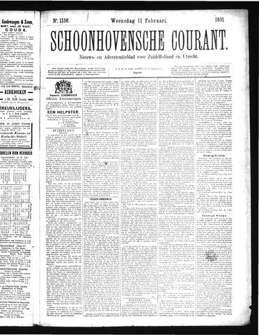 Schoonhovensche Courant 1891-02-11