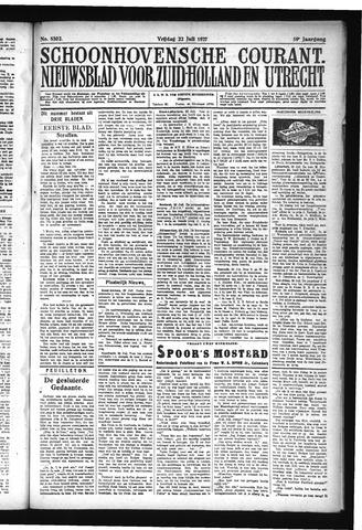 Schoonhovensche Courant 1927-07-22
