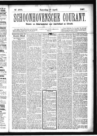 Schoonhovensche Courant 1897-04-17