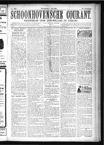 Schoonhovensche Courant 1925-07-01
