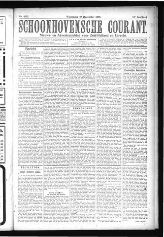 Schoonhovensche Courant 1922-12-27