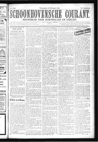 Schoonhovensche Courant 1924-02-13