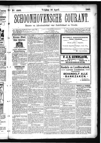 Schoonhovensche Courant 1920-04-16