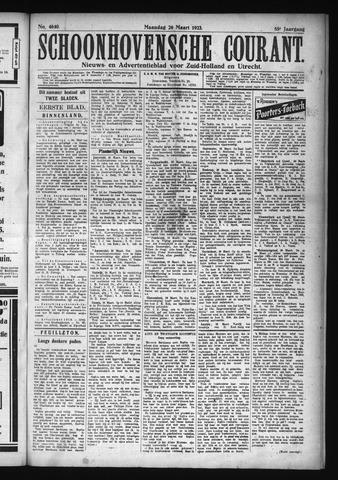 Schoonhovensche Courant 1923-03-26