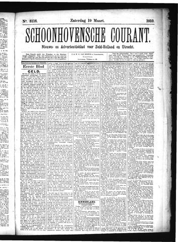 Schoonhovensche Courant 1910-03-19