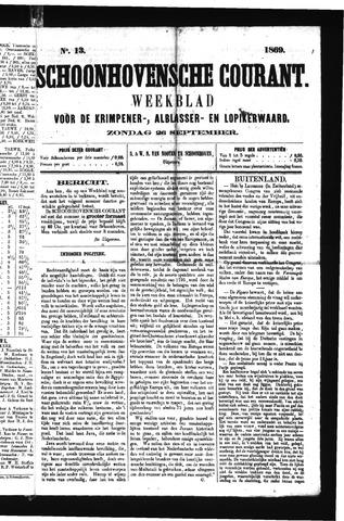Schoonhovensche Courant 1869-09-26