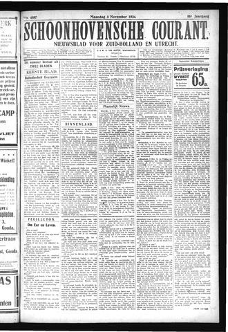 Schoonhovensche Courant 1924-11-03