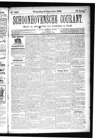 Schoonhovensche Courant 1920-09-22