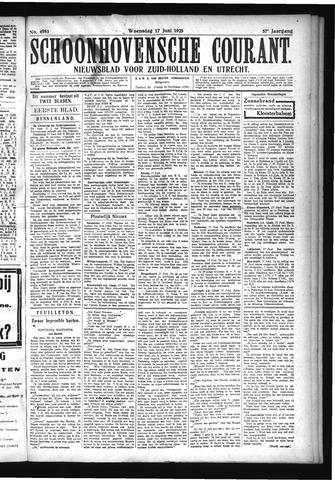 Schoonhovensche Courant 1925-06-17