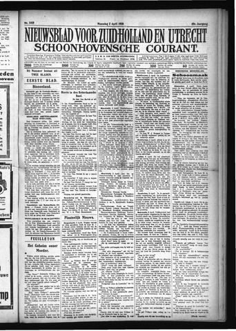 Schoonhovensche Courant 1928-04-02