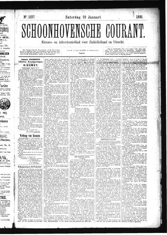 Schoonhovensche Courant 1891-01-10