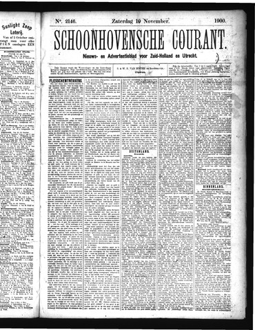 Schoonhovensche Courant 1900-11-10
