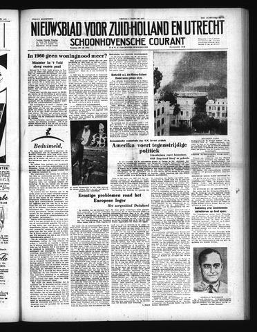 Schoonhovensche Courant 1952-02-01