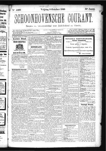 Schoonhovensche Courant 1920-10-08
