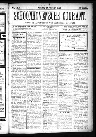 Schoonhovensche Courant 1921-01-28